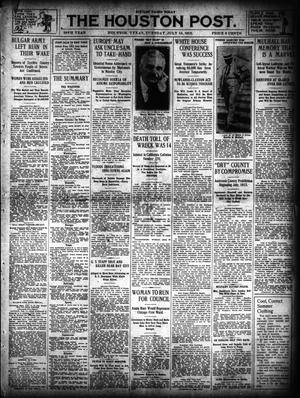 Primary view of object titled 'The Houston Post. (Houston, Tex.), Vol. 28, Ed. 1 Tuesday, July 15, 1913'.