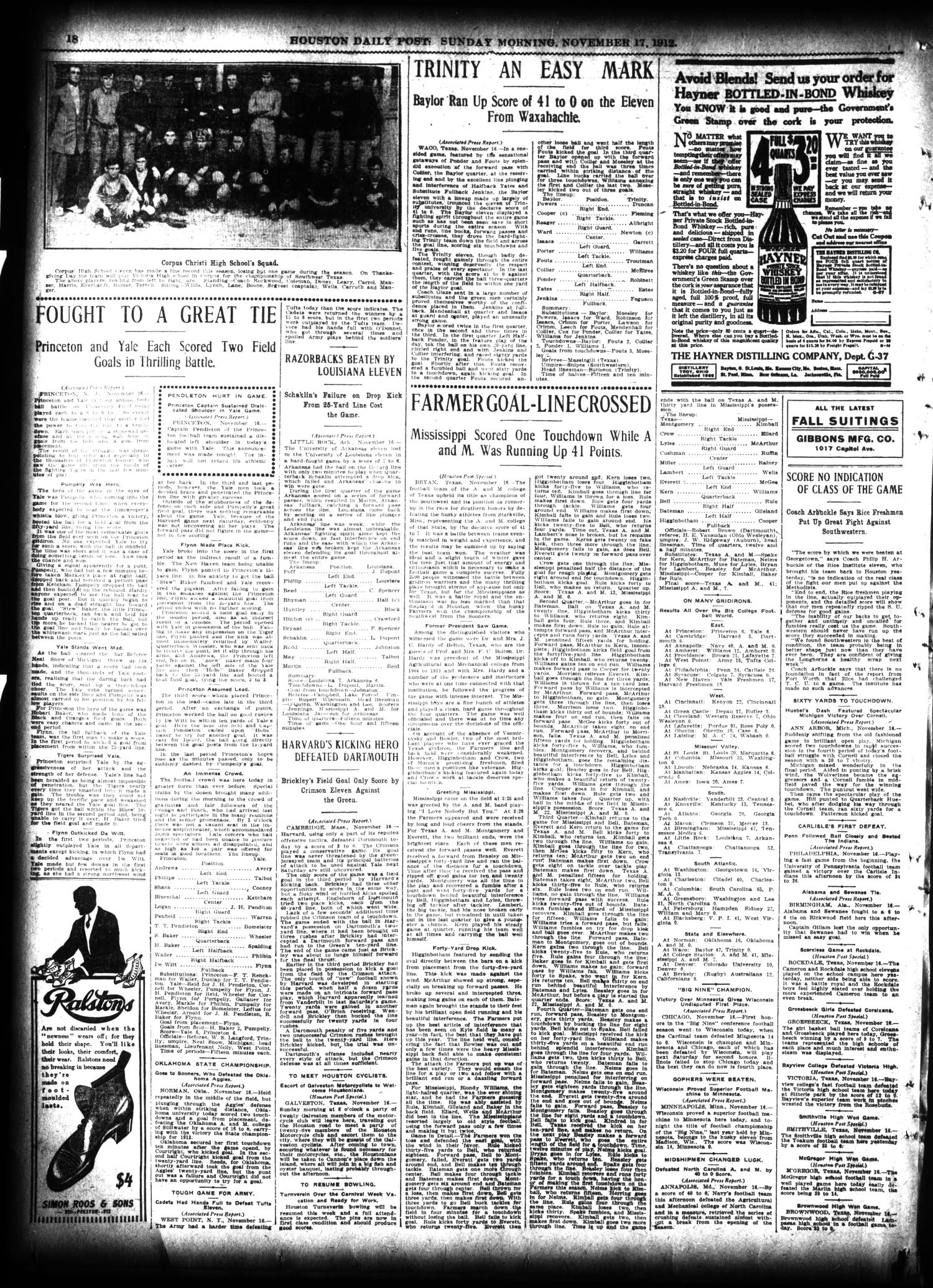 The Houston Post. (Houston, Tex.), Vol. 27, Ed. 1 Sunday, November 17, 1912                                                                                                      [Sequence #]: 18 of 62