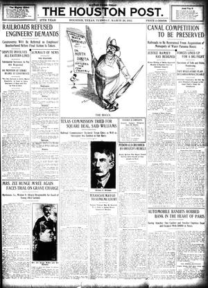 Primary view of object titled 'The Houston Post. (Houston, Tex.), Vol. 27, Ed. 1 Tuesday, March 26, 1912'.