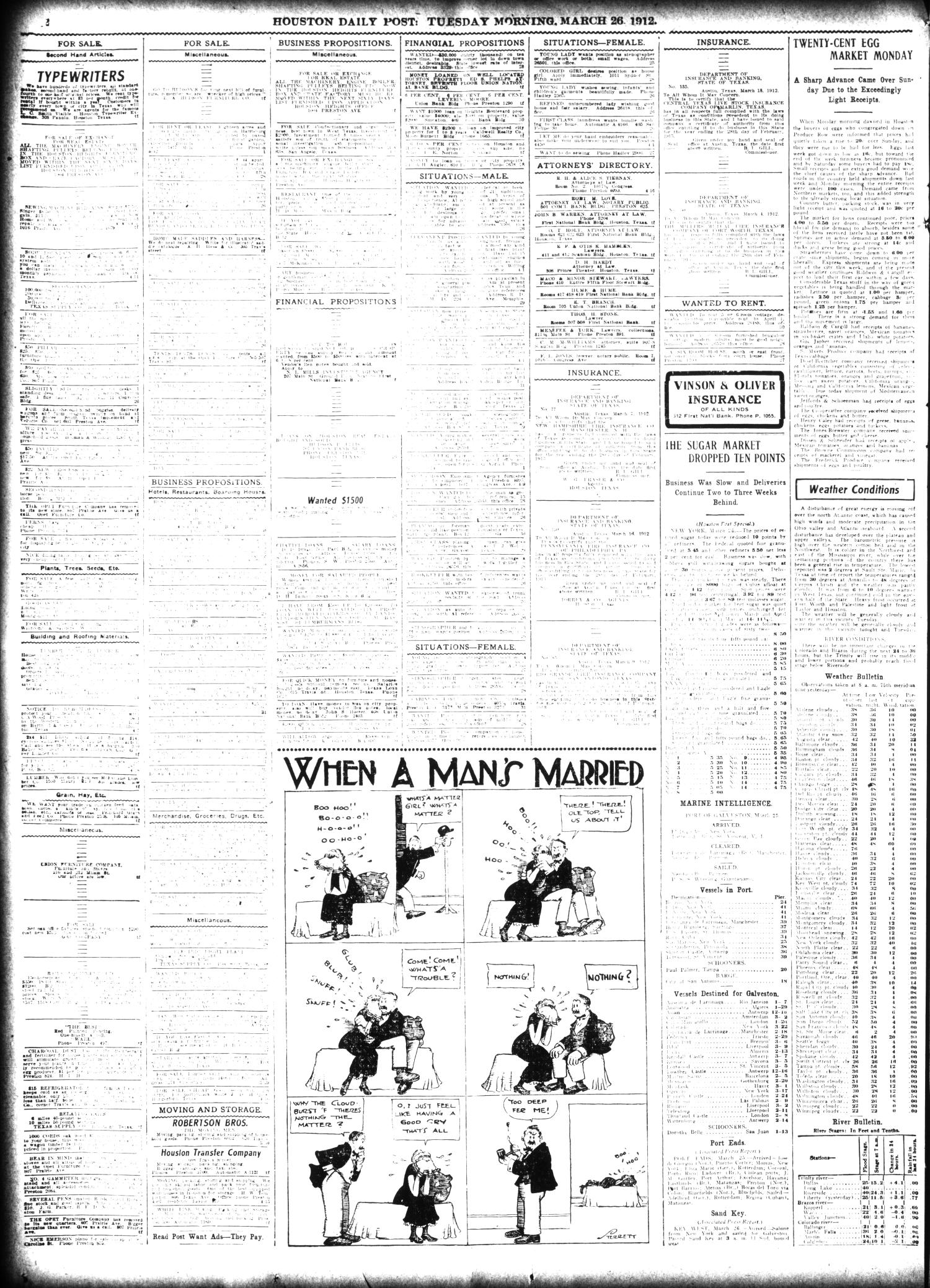 The Houston Post. (Houston, Tex.), Vol. 27, Ed. 1 Tuesday, March 26, 1912                                                                                                      [Sequence #]: 14 of 16