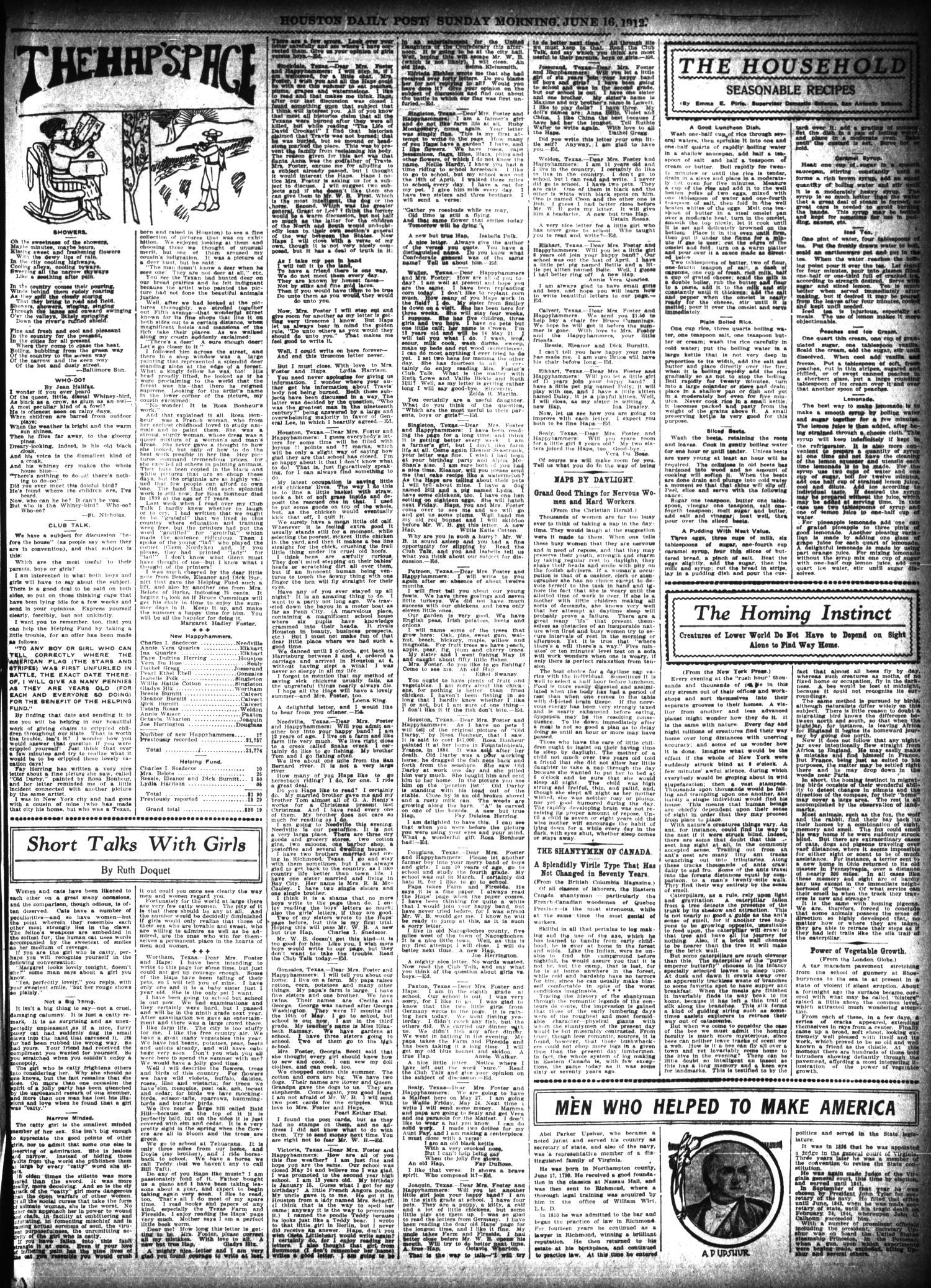 The Houston Post Houston Tex Vol 27 Ed 1 Sunday June 16