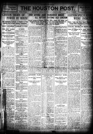 Primary view of object titled 'The Houston Post. (Houston, Tex.), Vol. 26, Ed. 1 Saturday, June 18, 1910'.