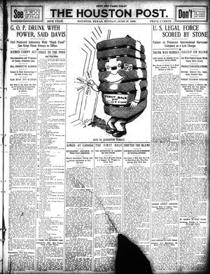 Primary view of object titled 'The Houston Post. (Houston, Tex.), Vol. 25, Ed. 1 Sunday, June 27, 1909'.