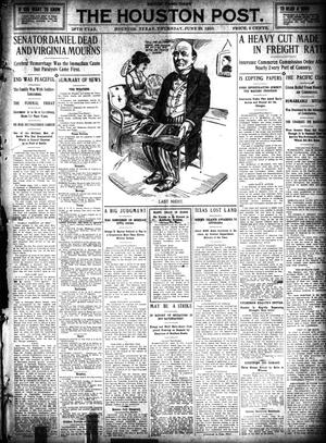 Primary view of object titled 'The Houston Post. (Houston, Tex.), Vol. 26, Ed. 1 Thursday, June 30, 1910'.