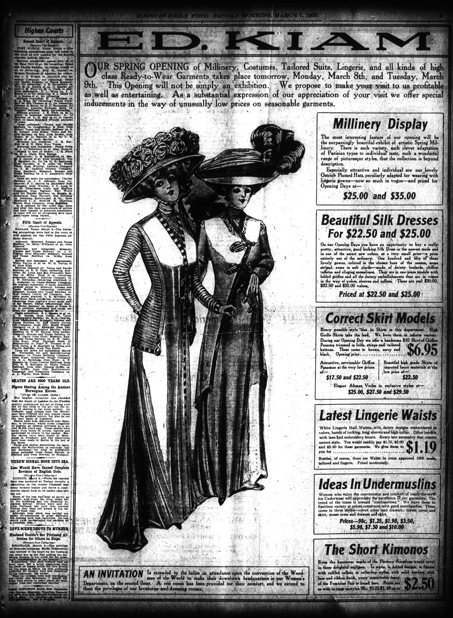 The Houston Post. (Houston, Tex.), Vol. 24, Ed. 1 Sunday, March 7, 1909                                                                                                      [Sequence #]: 3 of 56