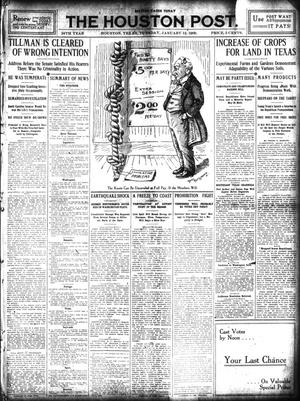 Primary view of object titled 'The Houston Post. (Houston, Tex.), Vol. 24, Ed. 1 Tuesday, January 12, 1909'.
