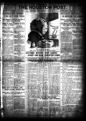 Primary view of object titled 'The Houston Post. (Houston, Tex.), Vol. 27, Ed. 1 Friday, April 5, 1912'.