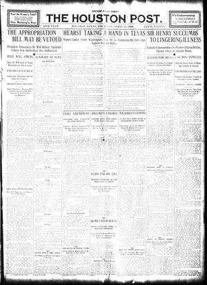 Primary view of object titled 'The Houston Post. (Houston, Tex.), Vol. 24, Ed. 1 Thursday, April 23, 1908'.
