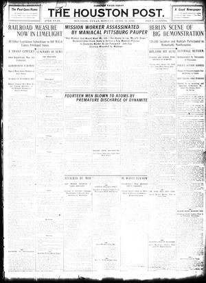 Primary view of object titled 'The Houston Post. (Houston, Tex.), Vol. 26, Ed. 1 Monday, April 11, 1910'.