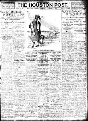 Primary view of object titled 'The Houston Post. (Houston, Tex.), Vol. 27, Ed. 1 Wednesday, January 17, 1912'.