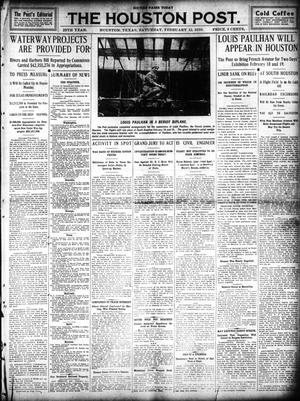 Primary view of object titled 'The Houston Post. (Houston, Tex.), Vol. 25, Ed. 1 Saturday, February 12, 1910'.