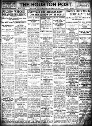 Primary view of object titled 'The Houston Post. (Houston, Tex.), Vol. 26, Ed. 1 Monday, December 26, 1910'.