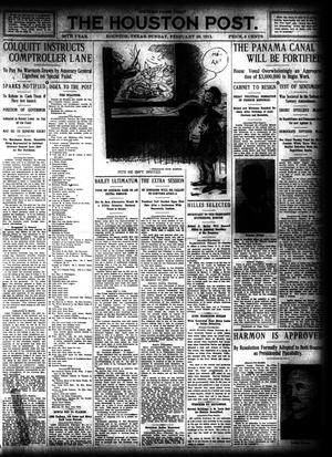 Primary view of object titled 'The Houston Post. (Houston, Tex.), Vol. 26, Ed. 1 Sunday, February 26, 1911'.