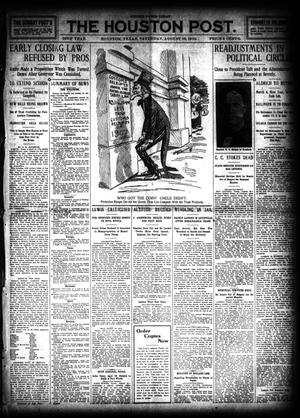 Primary view of object titled 'The Houston Post. (Houston, Tex.), Vol. 26, Ed. 1 Saturday, August 13, 1910'.