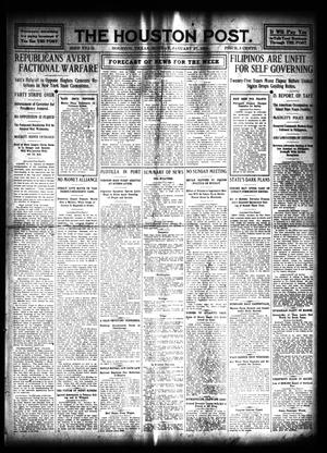 Primary view of object titled 'The Houston Post. (Houston, Tex.), Vol. 23, Ed. 1 Monday, January 27, 1908'.