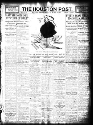 Primary view of object titled 'The Houston Post. (Houston, Tex.), Vol. 23, Ed. 1 Wednesday, March 11, 1908'.