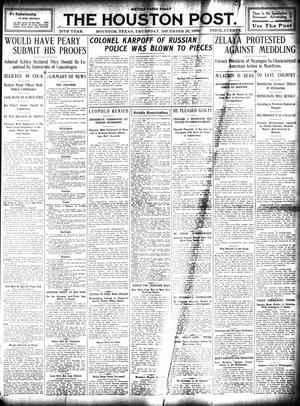 Primary view of object titled 'The Houston Post. (Houston, Tex.), Vol. 25, Ed. 1 Thursday, December 23, 1909'.