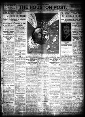 Primary view of object titled 'The Houston Post. (Houston, Tex.), Vol. 26, Ed. 1 Tuesday, May 17, 1910'.
