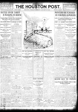 Primary view of object titled 'The Houston Post. (Houston, Tex.), Vol. 27, Ed. 1 Saturday, January 27, 1912'.