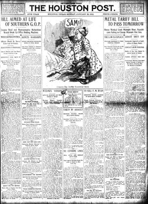 Primary view of object titled 'The Houston Post. (Houston, Tex.), Vol. 27, Ed. 1 Sunday, January 28, 1912'.