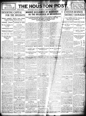 Primary view of object titled 'The Houston Post. (Houston, Tex.), Vol. 25, Ed. 1 Monday, December 20, 1909'.
