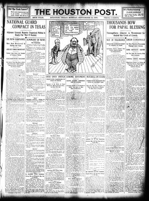Primary view of object titled 'The Houston Post. (Houston, Tex.), Vol. 25, Ed. 1 Tuesday, September 14, 1909'.