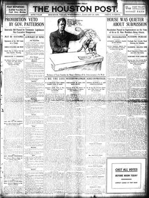 Primary view of object titled 'The Houston Post. (Houston, Tex.), Vol. 24, Ed. 1 Wednesday, January 20, 1909'.
