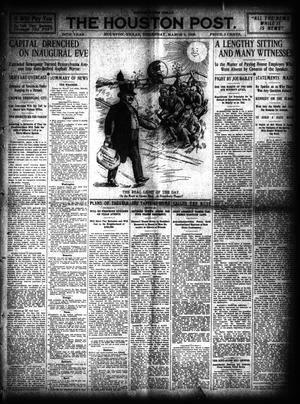 Primary view of object titled 'The Houston Post. (Houston, Tex.), Vol. 24, Ed. 1 Thursday, March 4, 1909'.