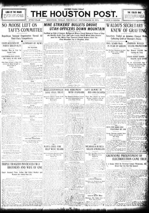 Primary view of object titled 'The Houston Post. (Houston, Tex.), Vol. 27, Ed. 1 Thursday, September 19, 1912'.