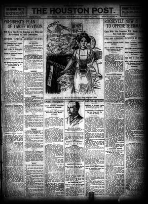 Primary view of object titled 'The Houston Post. (Houston, Tex.), Vol. 26, Ed. 1 Wednesday, August 24, 1910'.