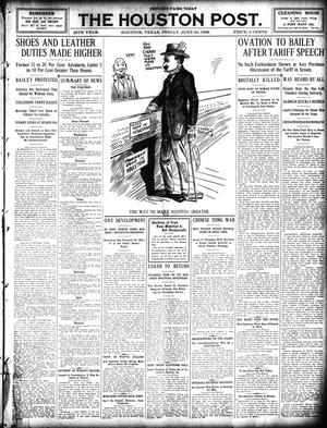 Primary view of object titled 'The Houston Post. (Houston, Tex.), Vol. 25, Ed. 1 Friday, June 25, 1909'.