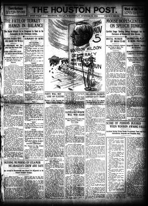 Primary view of object titled 'The Houston Post. (Houston, Tex.), Vol. 27, Ed. 1 Wednesday, October 30, 1912'.