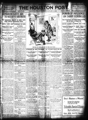 Primary view of object titled 'The Houston Post. (Houston, Tex.), Vol. 24, Ed. 1 Tuesday, January 5, 1909'.