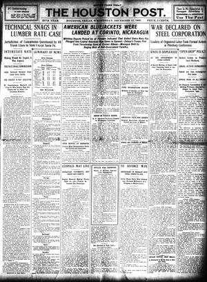 Primary view of object titled 'The Houston Post. (Houston, Tex.), Vol. 25, Ed. 1 Wednesday, December 15, 1909'.