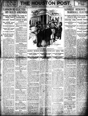 Primary view of object titled 'The Houston Post. (Houston, Tex.), Vol. 24, Ed. 1 Tuesday, March 16, 1909'.