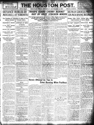 Primary view of object titled 'The Houston Post. (Houston, Tex.), Vol. 25, Ed. 1 Thursday, November 18, 1909'.