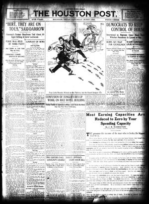 Primary view of object titled 'The Houston Post. (Houston, Tex.), Vol. 27, Ed. 1 Saturday, June 1, 1912'.