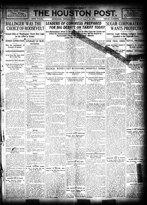 Primary view of object titled 'The Houston Post. (Houston, Tex.), Vol. 26, Ed. 1 Thursday, May 12, 1910'.