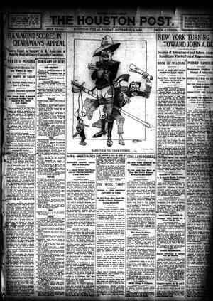 Primary view of object titled 'The Houston Post. (Houston, Tex.), Vol. 26, Ed. 1 Friday, November 4, 1910'.