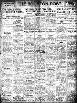 Primary view of object titled 'The Houston Post. (Houston, Tex.), Vol. 25, Ed. 1 Friday, April 30, 1909'.