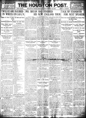 Primary view of object titled 'The Houston Post. (Houston, Tex.), Vol. 24, Ed. 1 Sunday, September 20, 1908'.