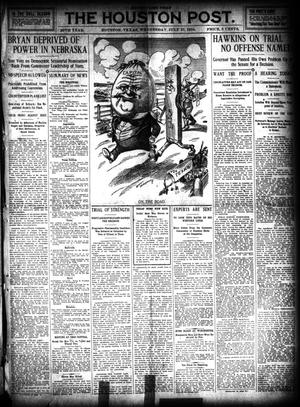 Primary view of object titled 'The Houston Post. (Houston, Tex.), Vol. 26, Ed. 1 Wednesday, July 27, 1910'.