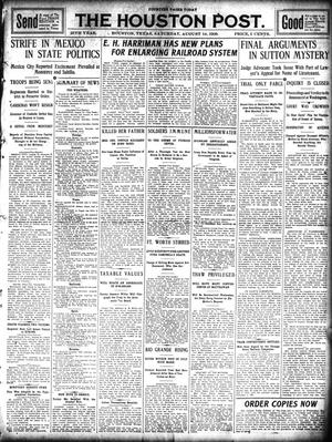 Primary view of object titled 'The Houston Post. (Houston, Tex.), Vol. 25, Ed. 1 Saturday, August 14, 1909'.