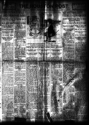Primary view of object titled 'The Houston Post. (Houston, Tex.), Vol. 24, Ed. 1 Thursday, May 28, 1908'.