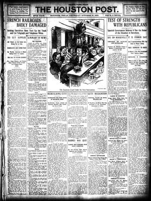 Primary view of object titled 'The Houston Post. (Houston, Tex.), Vol. 26, Ed. 1 Thursday, October 13, 1910'.