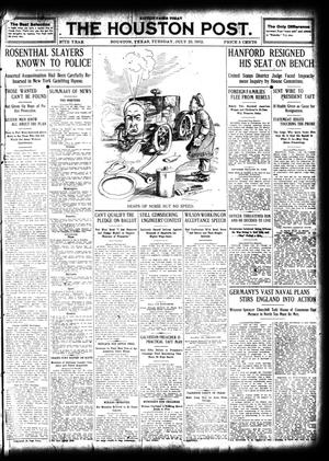 Primary view of object titled 'The Houston Post. (Houston, Tex.), Vol. 27, Ed. 1 Tuesday, July 23, 1912'.