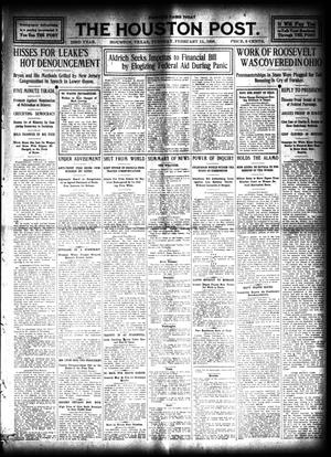Primary view of object titled 'The Houston Post. (Houston, Tex.), Vol. 23, Ed. 1 Tuesday, February 11, 1908'.