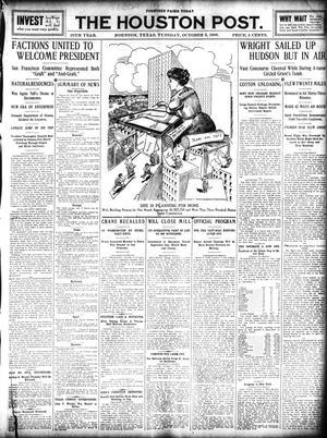 Primary view of object titled 'The Houston Post. (Houston, Tex.), Vol. 25, Ed. 1 Tuesday, October 5, 1909'.