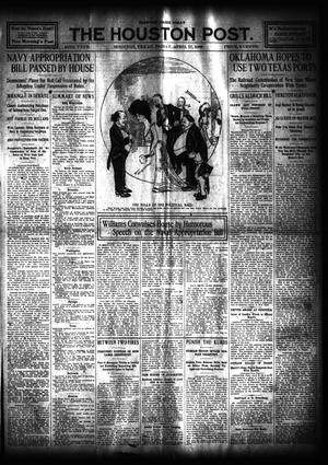 Primary view of object titled 'The Houston Post. (Houston, Tex.), Vol. 24, Ed. 1 Friday, April 17, 1908'.