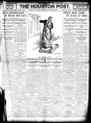 Primary view of object titled 'The Houston Post. (Houston, Tex.), Vol. 25, Ed. 1 Wednesday, October 20, 1909'.